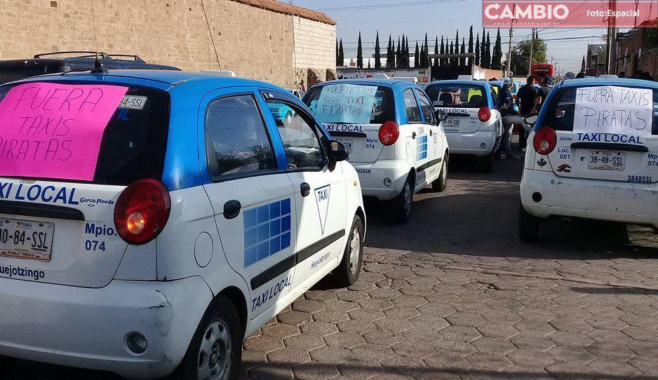 En Huejotzingo hay más de 100 taxis piratas y la SCT no hace nada