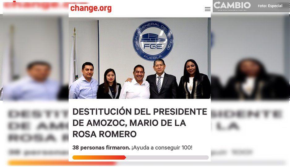 Lanzan petición en la plataforma de change.org para destituir a edil de Amozoc
