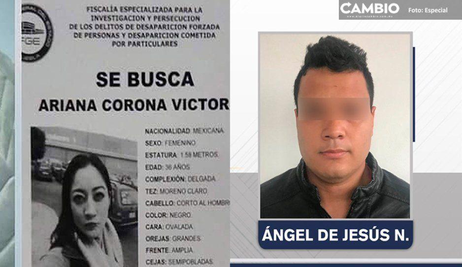 Detienen a Ángel de Jesús por la desaparición de su ex pareja Ariana Corona