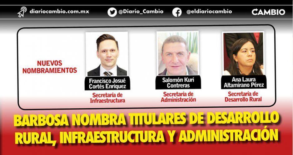 Miguel Barbosa casi acaba de armar su gabinete: designa titulares de Infraestructura, Administración y de Desarrollo Rural