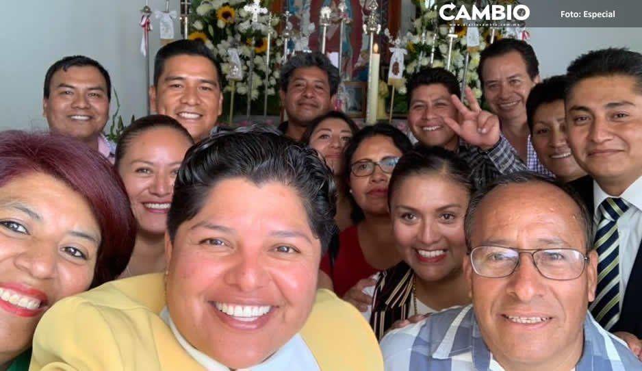 Karina Pérez y regidores se pasan por el arco del triunfo al estado laico en San Andrés