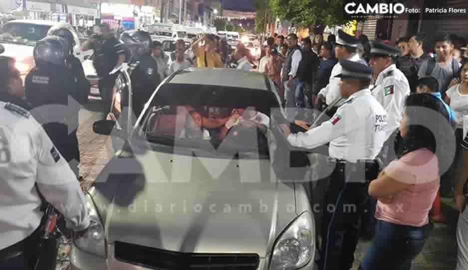 Contraloría abre investigación vs policía municipal que agredió a elemento de vialidad en Tehuacán