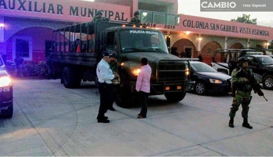 ¡Para eso me gustabas! Hampones desarman a Guardia Nacional en San Gabriel Chilac