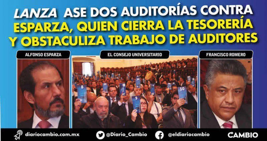 Lanza ASE dos auditorías contra Esparza, quien cierra la Tesorería y obstaculiza trabajo de auditores