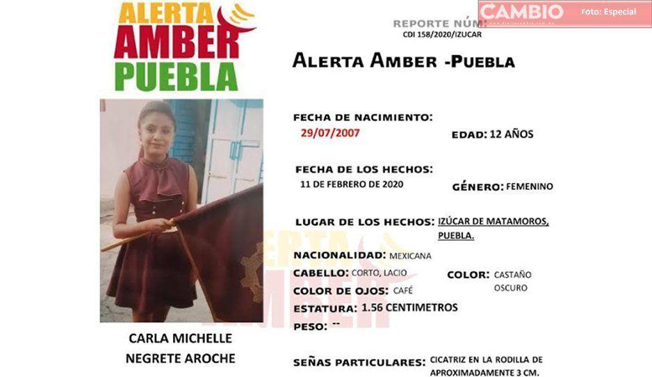 Ayúda a Carla Michelle regresar a casa; se extravió en Izúcar de Matamoros