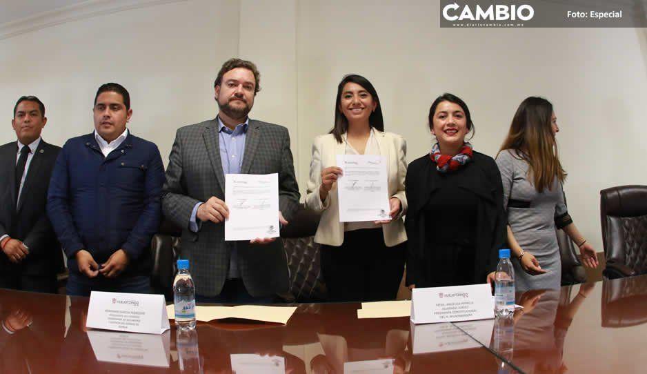 Ayuntamiento de Huejotzingo refuerza estrategia integral de Seguridad Pública