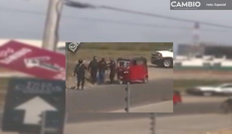 Policías de Cuautlancingo sí dispararon contra mototaxi durante operativo