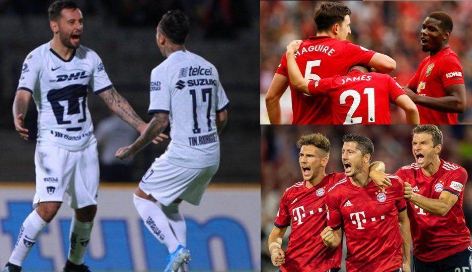 Pumas se enfrentará a Manchester United y Bayern Munich