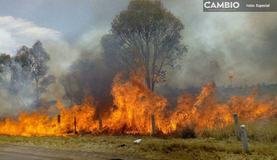 Mala calidad de aire por incendios en Atlixco