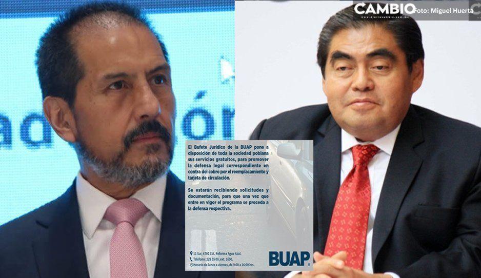 BUAP vs Barbosa en guerra total: dará asesoría gratuita vs el reemplacamiento