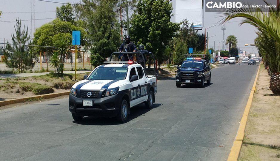 Reporte de un falso secuestro genera movilización policíaca en Texmelucan