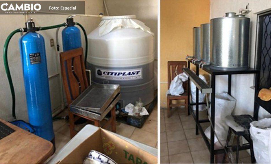 ¡Precaución fans del Rancho Escondido! Hallan en Puebla bodega donde adulteran el pomo