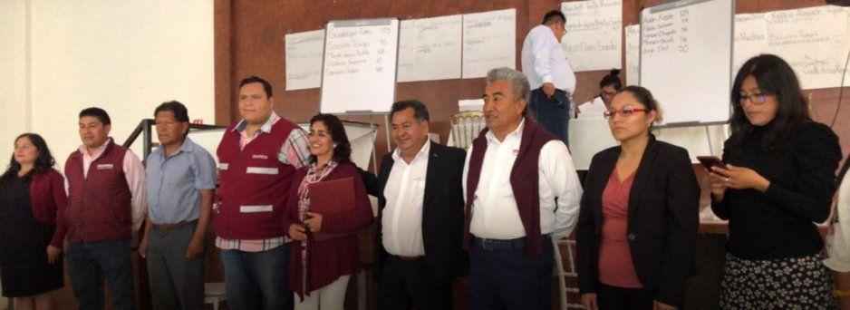 Karina Pérez y Tonantzin Fernández, imponen consejeros en asamblea distrital de Morena