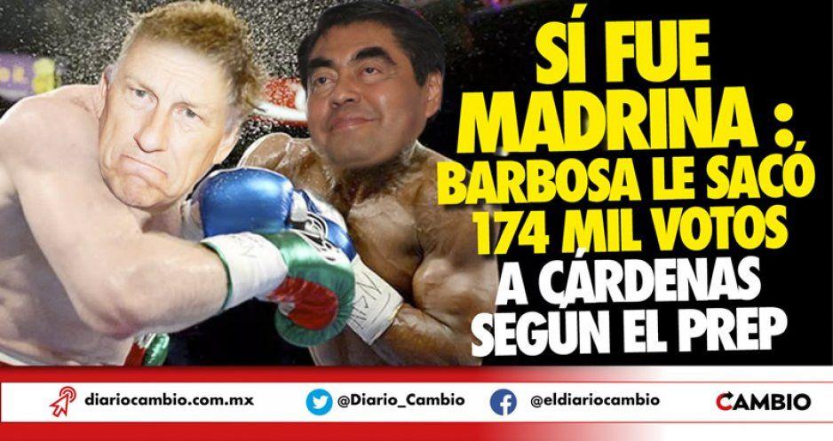 Sí fue madrina: Barbosa le sacó 174 mil votos a Cárdenas según el PREP
