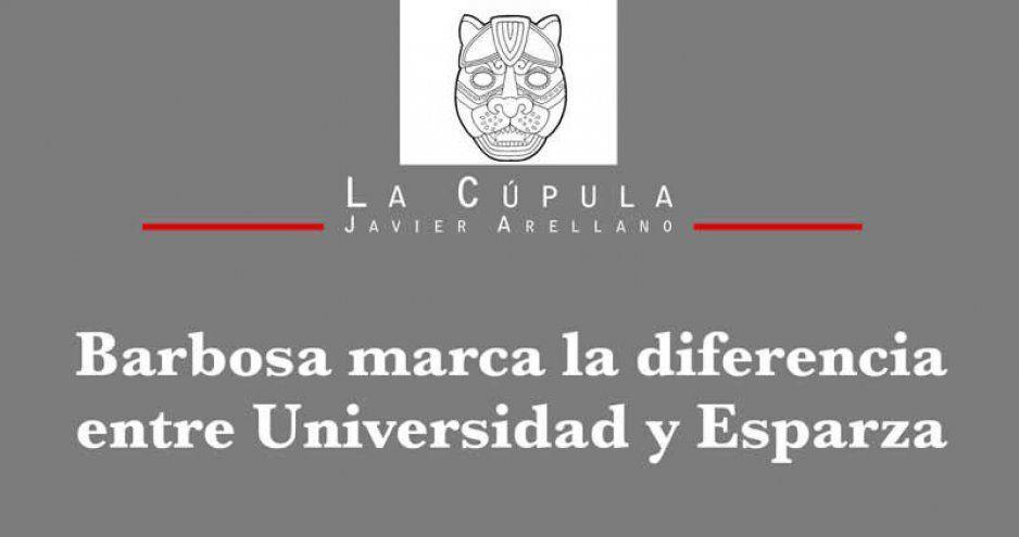 Barbosa marca la diferencia entre Universidad y Esparza