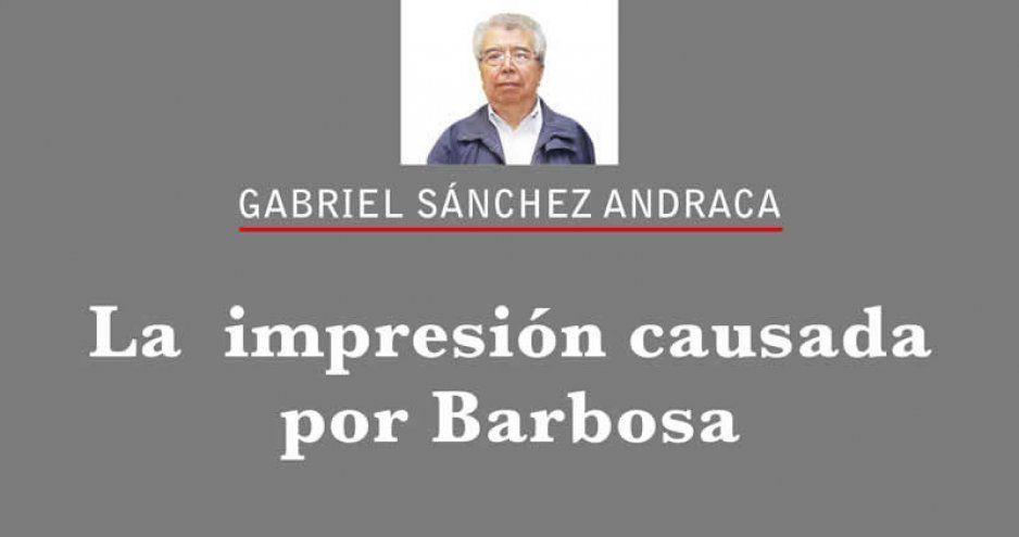 La  impresión causada por Barbosa