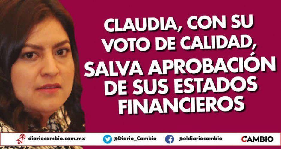Claudia, con su voto de calidad, salva aprobación de sus estados financieros