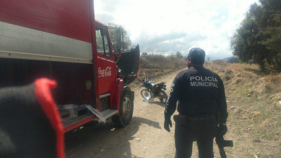 Se roban camión de Coca-Cola con todo y las Fantas en Teotlalzingo
