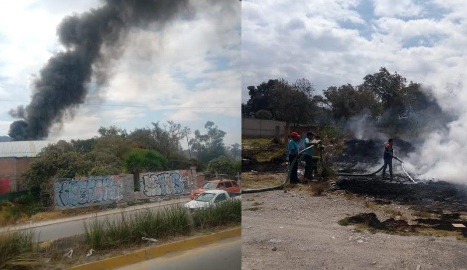 Vecinos se espantan ante la quema de plástico en Chachapa