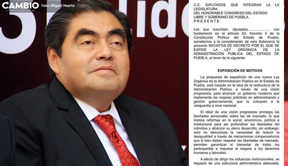 Habrá 17 Secretarías en el gobierno de Puebla, según la reestructuración que propone Barbosa