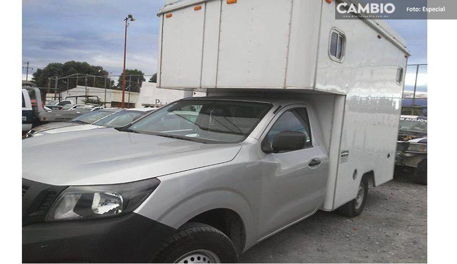 Policías recuperan camioneta y aseguran a presunto ladrón en Texmelucan
