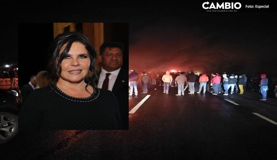 Norma Layón, dispuesta al diálogo con manifestantes que bloquean la México-Puebla
