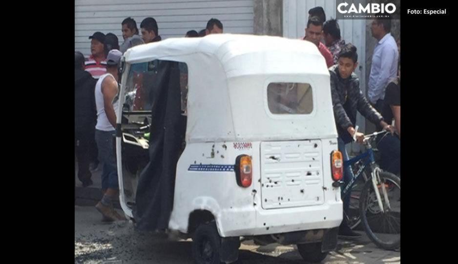 Muere chofer de mototaxi donde viajaba el comandante asesinado en Acatzingo