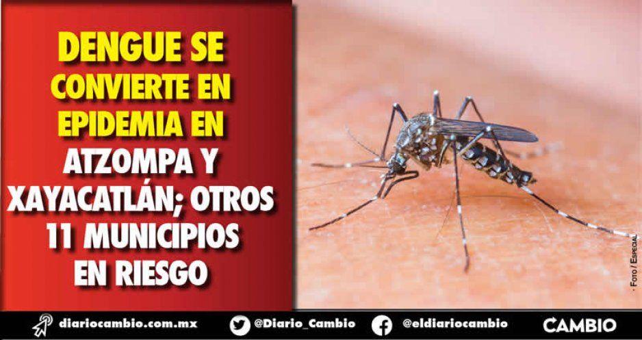 Declara SSA alerta epidemiológica por dengue en dos municipios poblanos