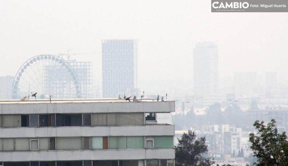 Gracias a que no hubo clases, Puebla sale de la zona de contingencia y baja la contaminación