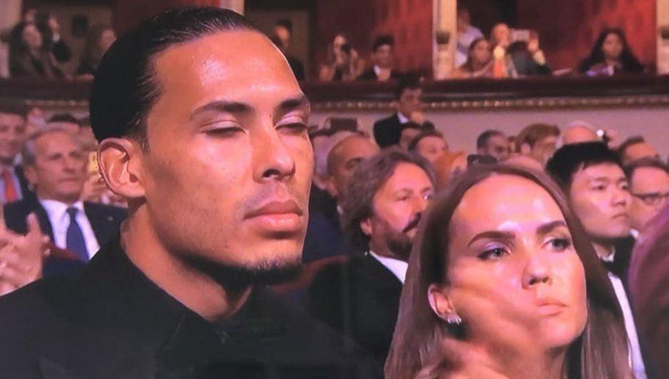 Así fue la reacción de Virgil Van Dijk tras no ganar el premio The Best