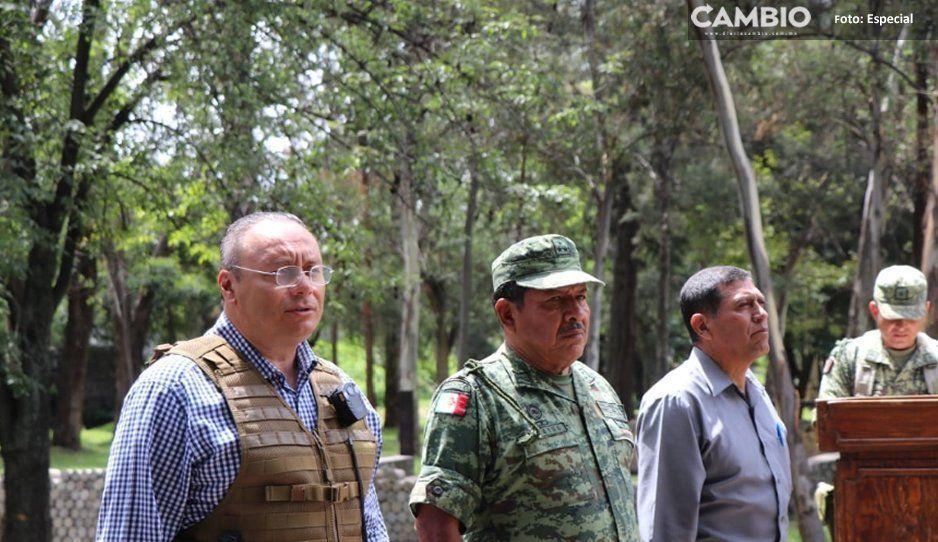 Ejército destruye en Atlixco matas de  marihuana incautadas por municipales
