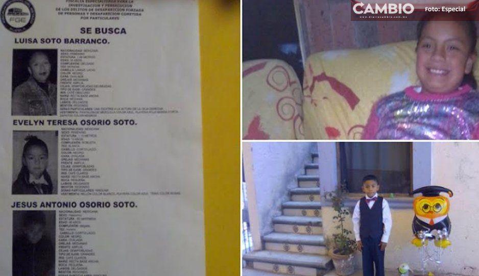 Luisa y sus hijos están desaparecidos, ¡ayúdalos a regresar a casa en Acajete!