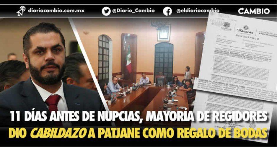 Regalo de bodas: ocho regidores dan cabildazo a Patjane y piden su destitución al Congreso