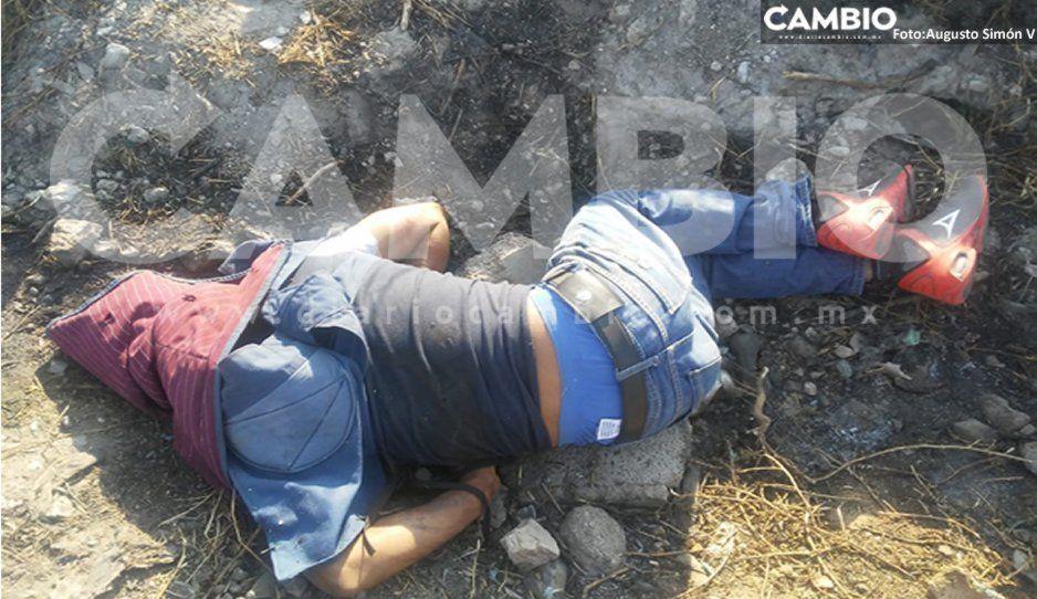 Hallan a joven ejecutado con tiro de gracia en Huixcolotla