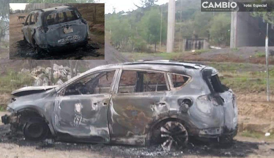 Se salvó de ser linchado, pero le quemaron su camioneta en Amozoc
