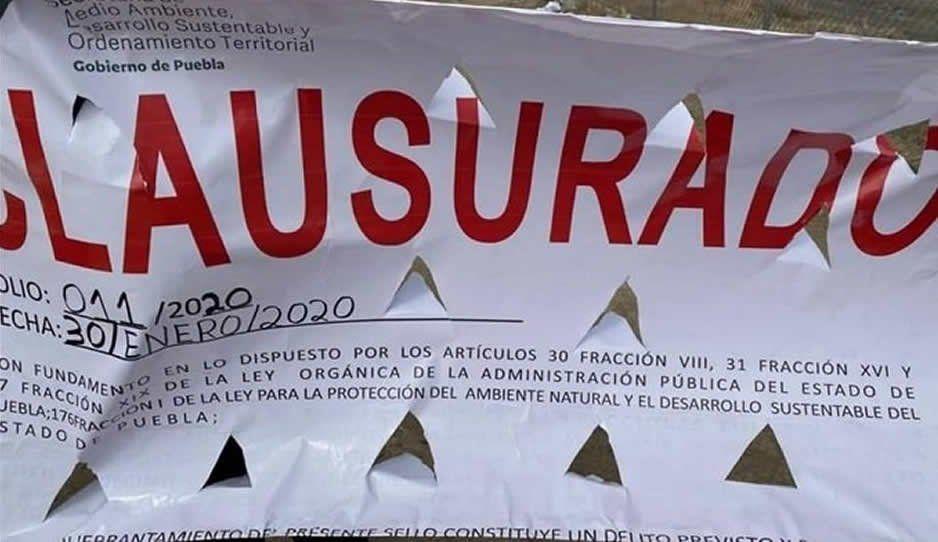 Clausuran colector pluvial en Huejotzingo tras contaminación al río Metlalpanapa