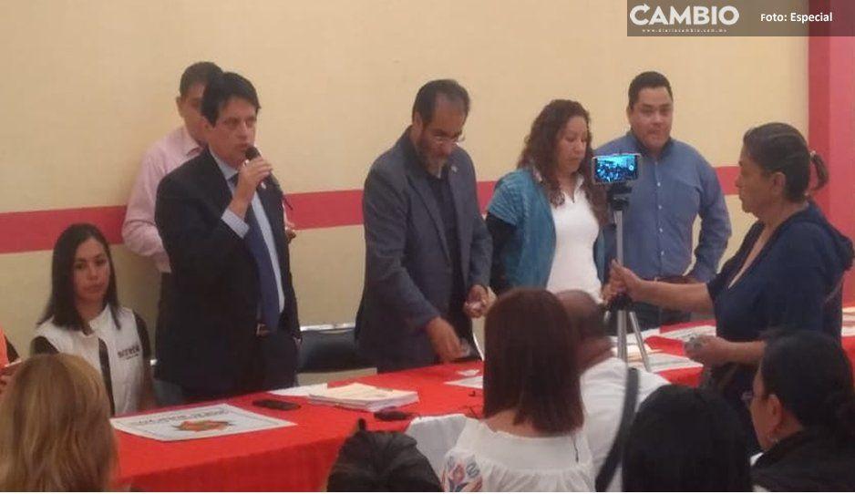 René Bejarano visita Teziutlán