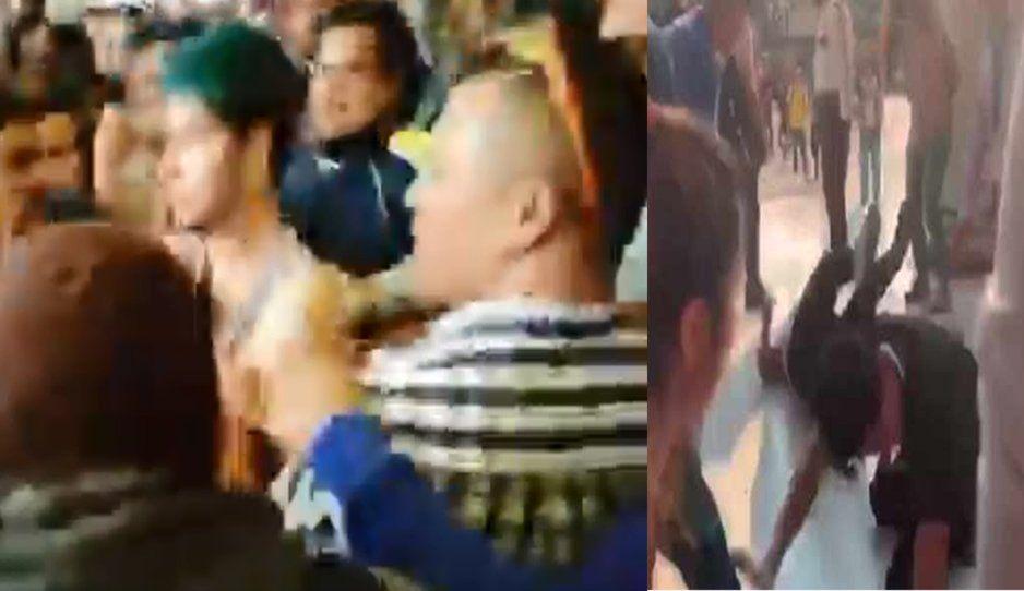 Campesinos enfurecidos golpean a gays por pintura de Zapata vestido de mujer VIDEO)