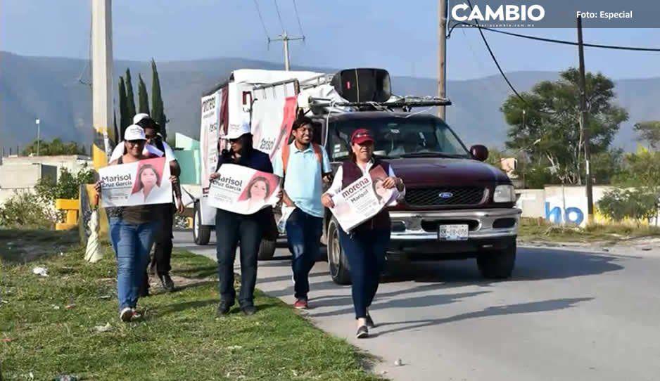 Roban camioneta a alcaldesa Marisol Cruz  frente a su propia casa en Tecamachalco