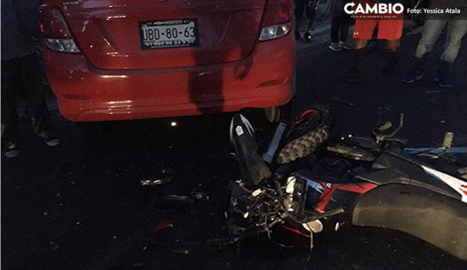 Borracho furioso mata a motociclista tras embestirlo en Izúcar