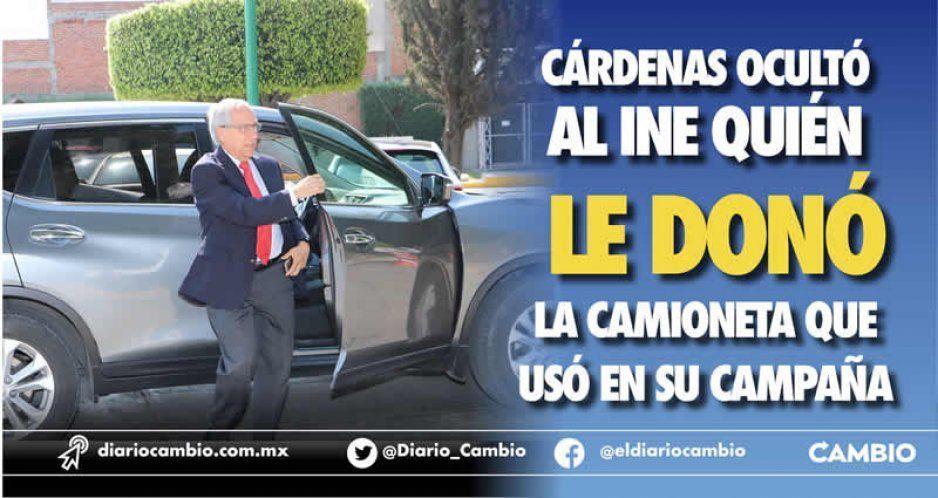 Cárdenas ocultó al INE quién le donó la camioneta que usó en su campaña