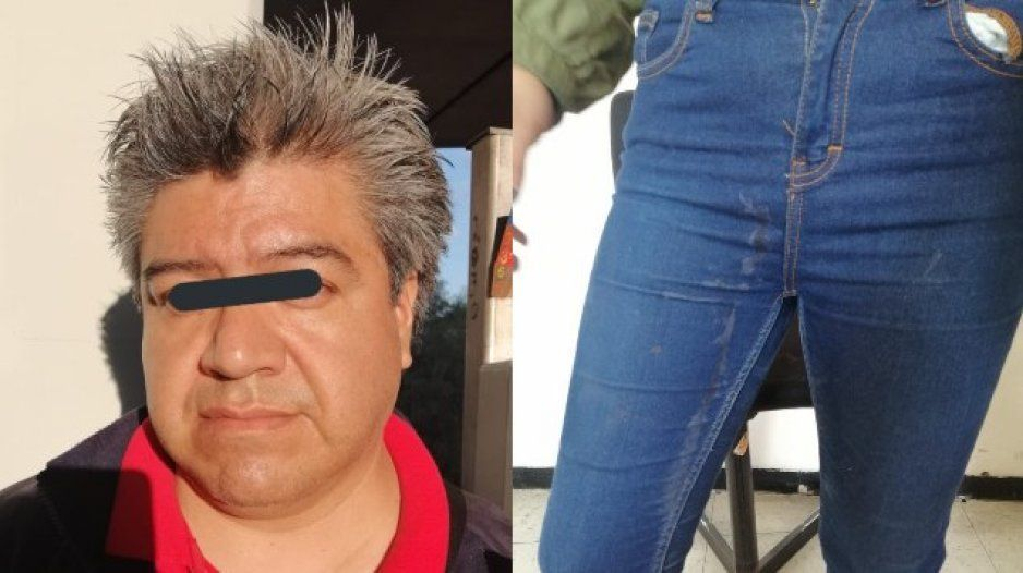 ¡Cerdo depravado! Hombre eyacula en el pantalón de una jovencita (FOTOS)