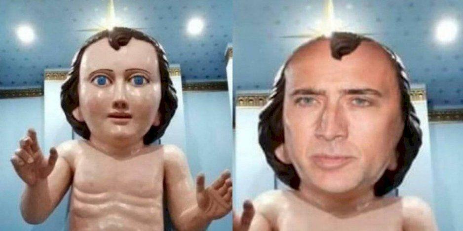 Comparan a Niño Dios gigante de Zacatecas con Nicolas Cage y desata la MEMIZA
