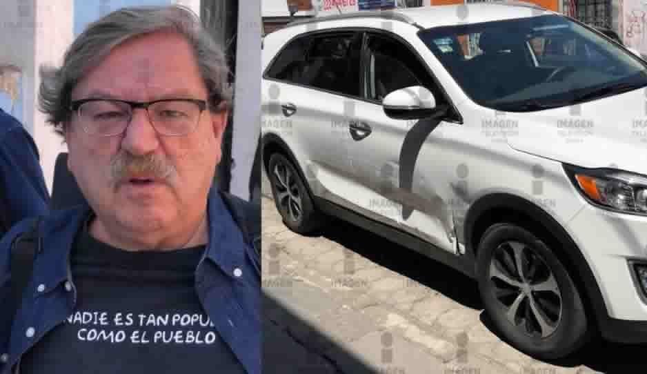 Paco Ignacio Taibo II choca en la 5 Sur y 9 Poniente