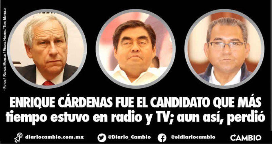 Enrique Cárdenas fue el candidato que más tiempo estuvo en radio y TV; aun así, perdió