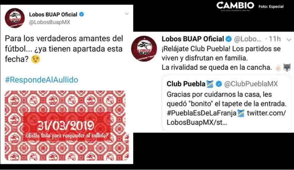 Lobos BUAP calienta el clásico del huachicol: le hace un tapete al Club Puebla