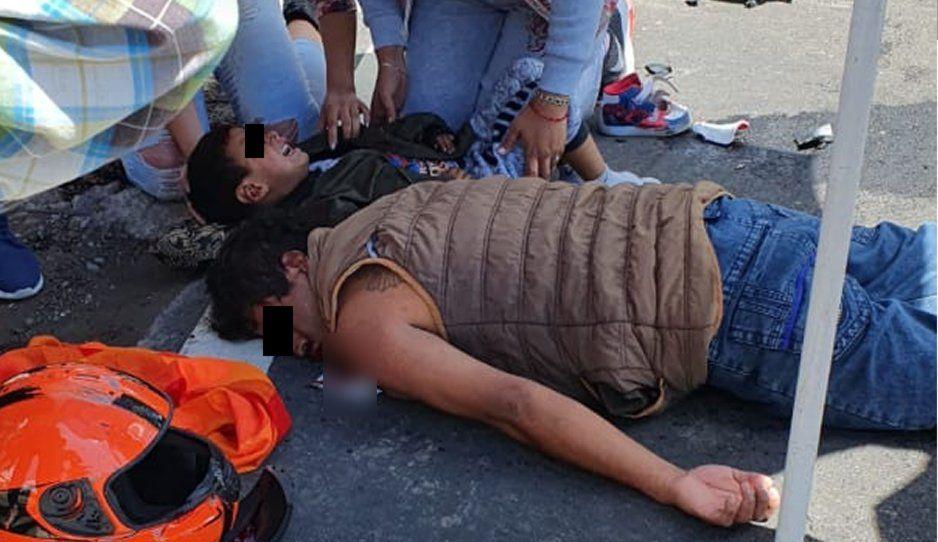Tras horas de agonía muere motociclista y su pequeño en la México-Puebla; madre sufrió fractura de cadera