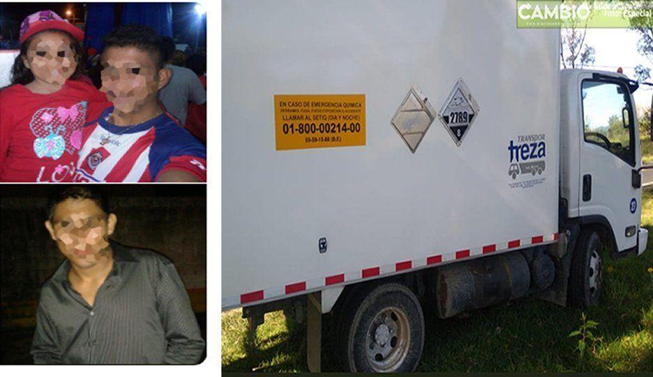 Los dejan amarrados en Río Frío para robarle camión cargado conácido acético