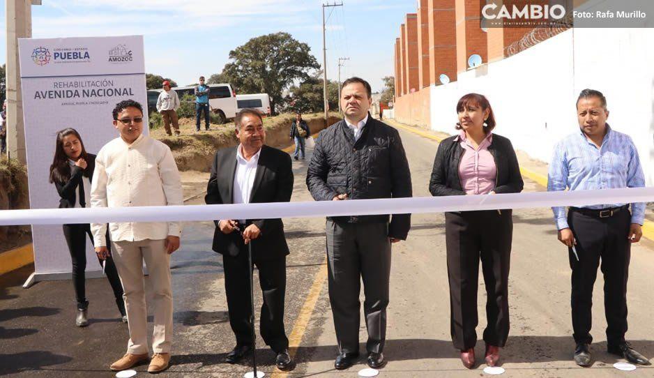Gobierno de Puebla entrega rehabilitación de la avenida nacional en Amozoc
