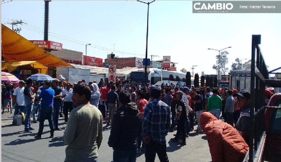 Comerciantes cierran accesos de Texmelucan; exigen reforzar laseguridad